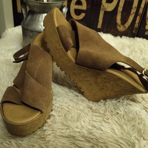 Trendy Corked Wedges